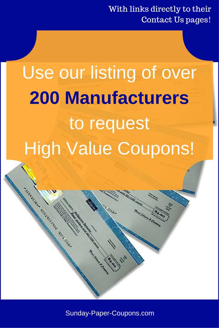 Free Couponsmail | Free Manufacturer Coupons - Free High Value Printable Coupons
