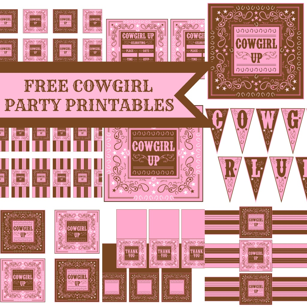 Free Cowgirl Birthday Party Printables From Printabelle   Catch My Party - Free Printable Western Labels