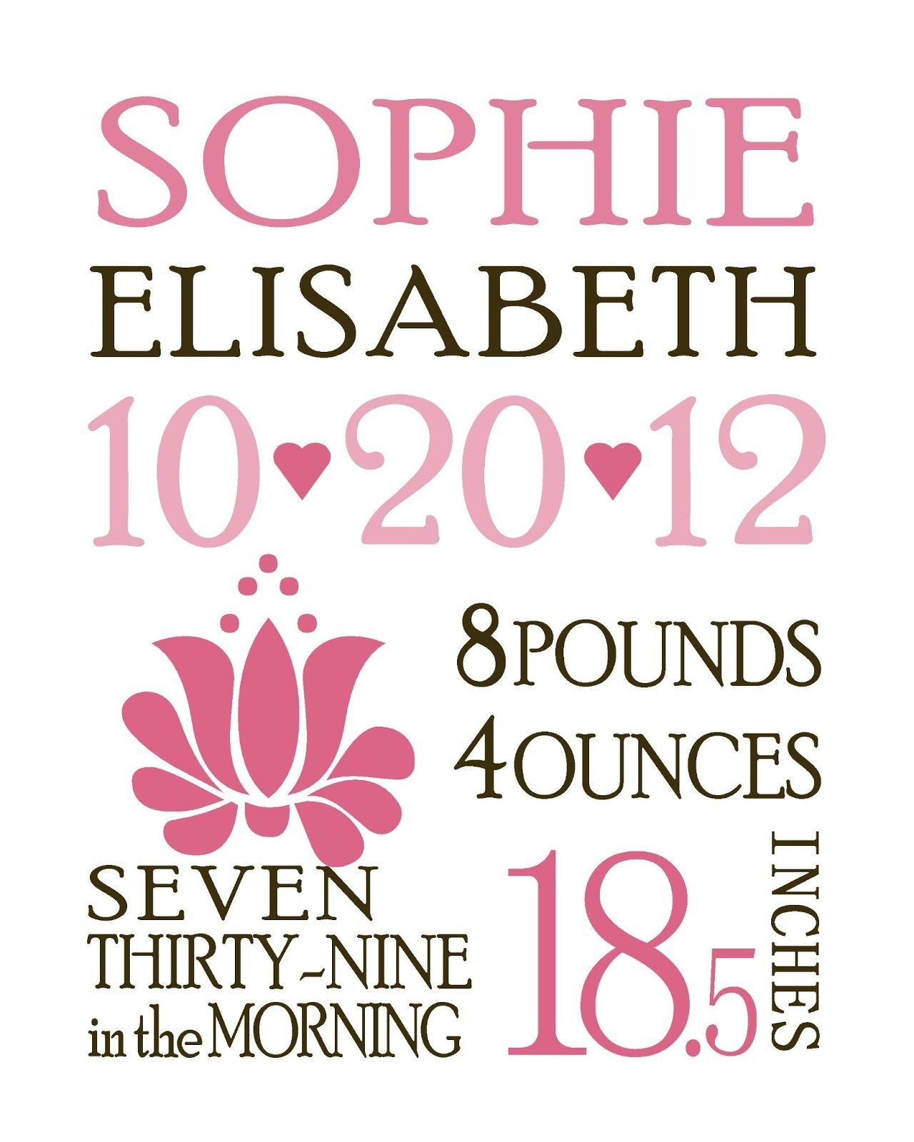 Free Custom Birth Announcements Template | Baby Love | Birth - Free Printable Baby Announcement Templates