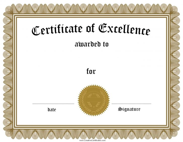 Free Printable Certificates Of Accomplishment