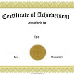 Free Customizable Certificate Of Achievement   Free Printable Certificates Of Achievement