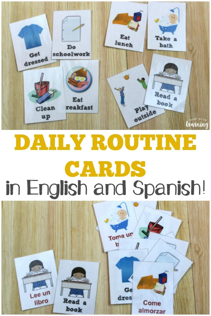 Free Daily Routine Cards For Kids - Look! We're Learning! - Free Printable Routine Cards
