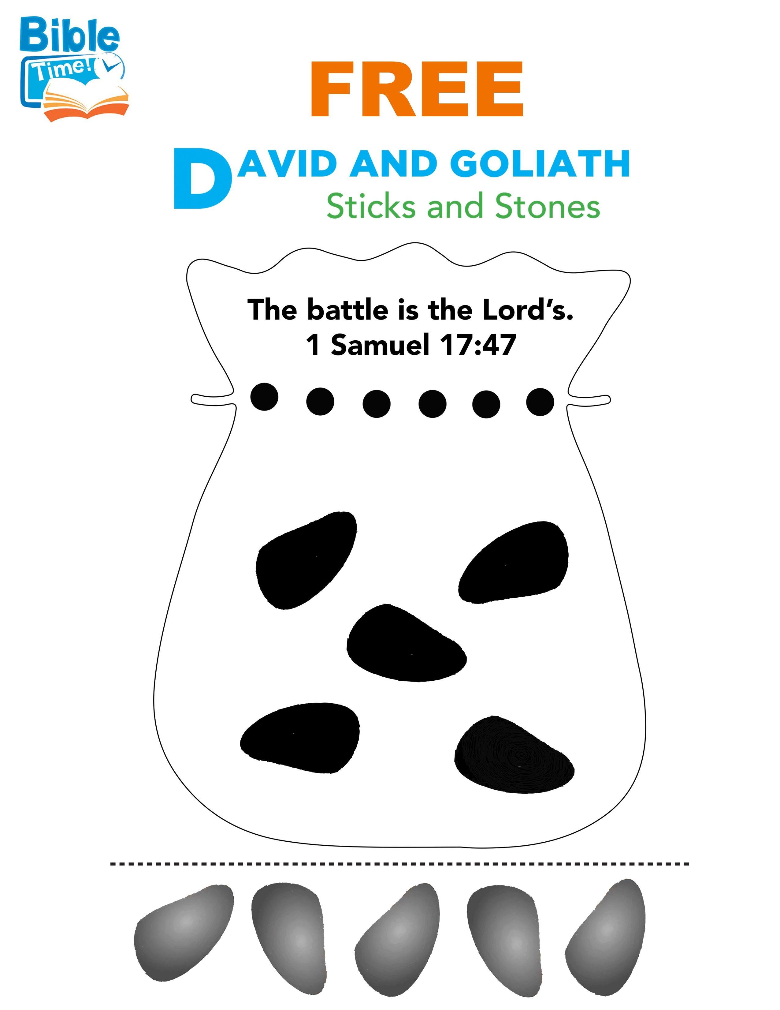 Free David & Goliath Preschool Bible Activity. Easy Kids Bible - Free Printable Children's Church Curriculum