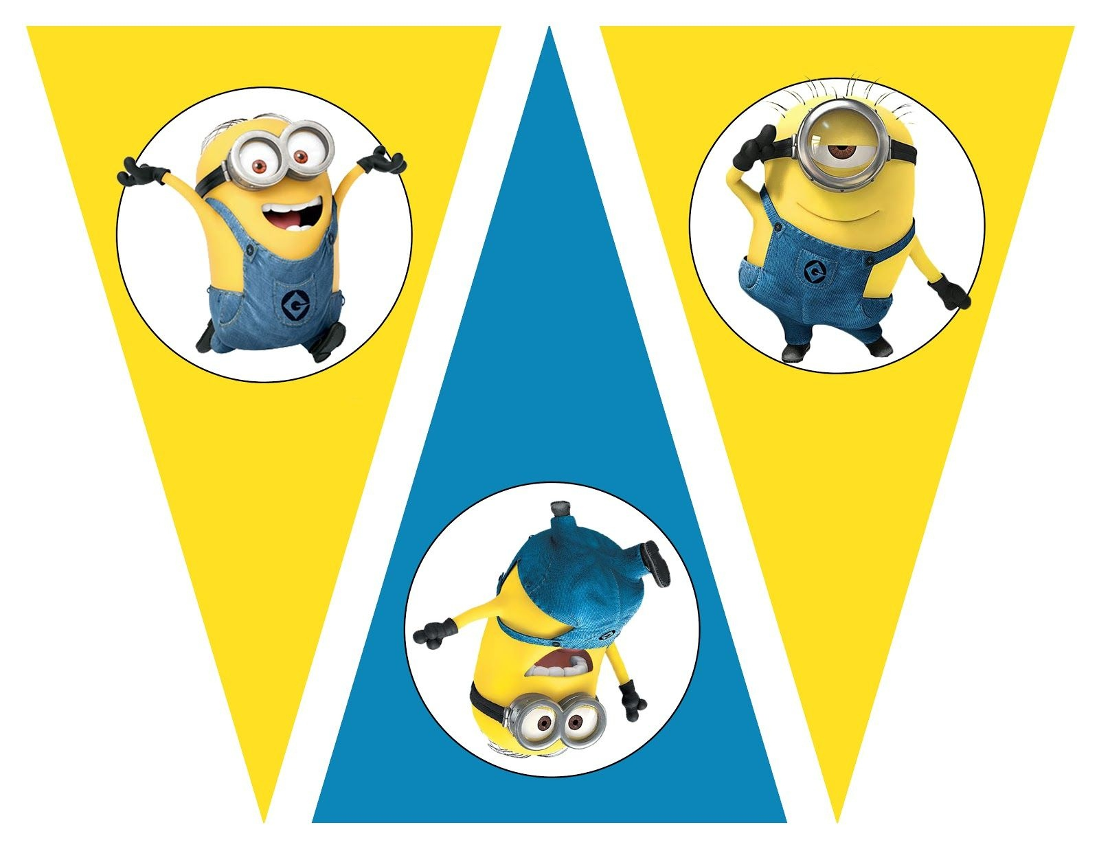 Free Despicable Me Party Printables, Birthday Party Theme, Free - Free Minion Printables