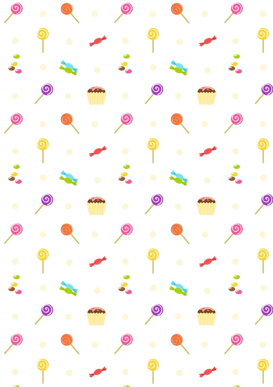 Free Digital Birthday Scrapbooking Paper : Sweets - Ausdruckbares - Free Printable Wallpaper Patterns