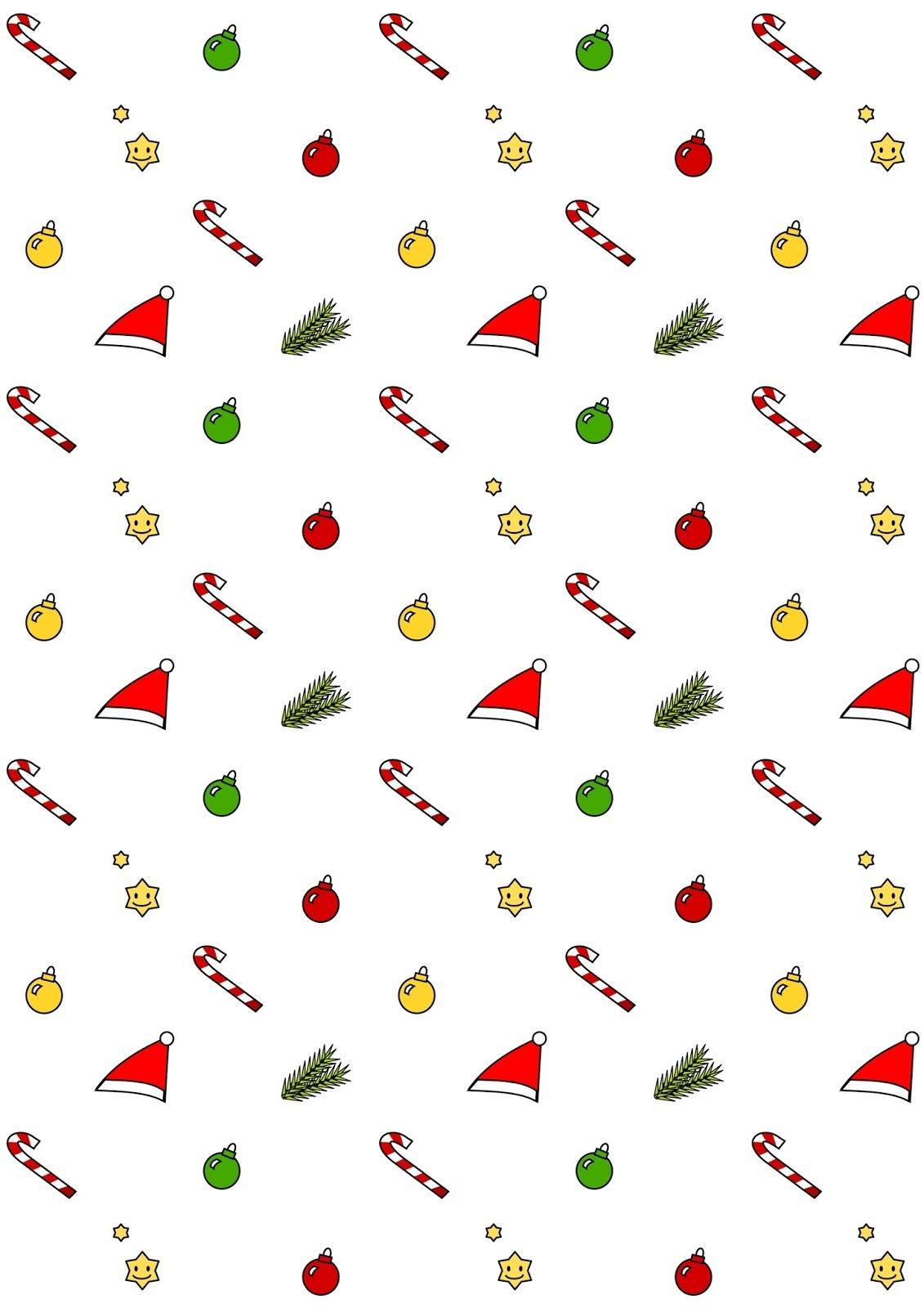 Free Digital Kawaii Christmas Scrapbooking Paper - Ausdruckbares - Free Printable Scrapbook Paper Christmas
