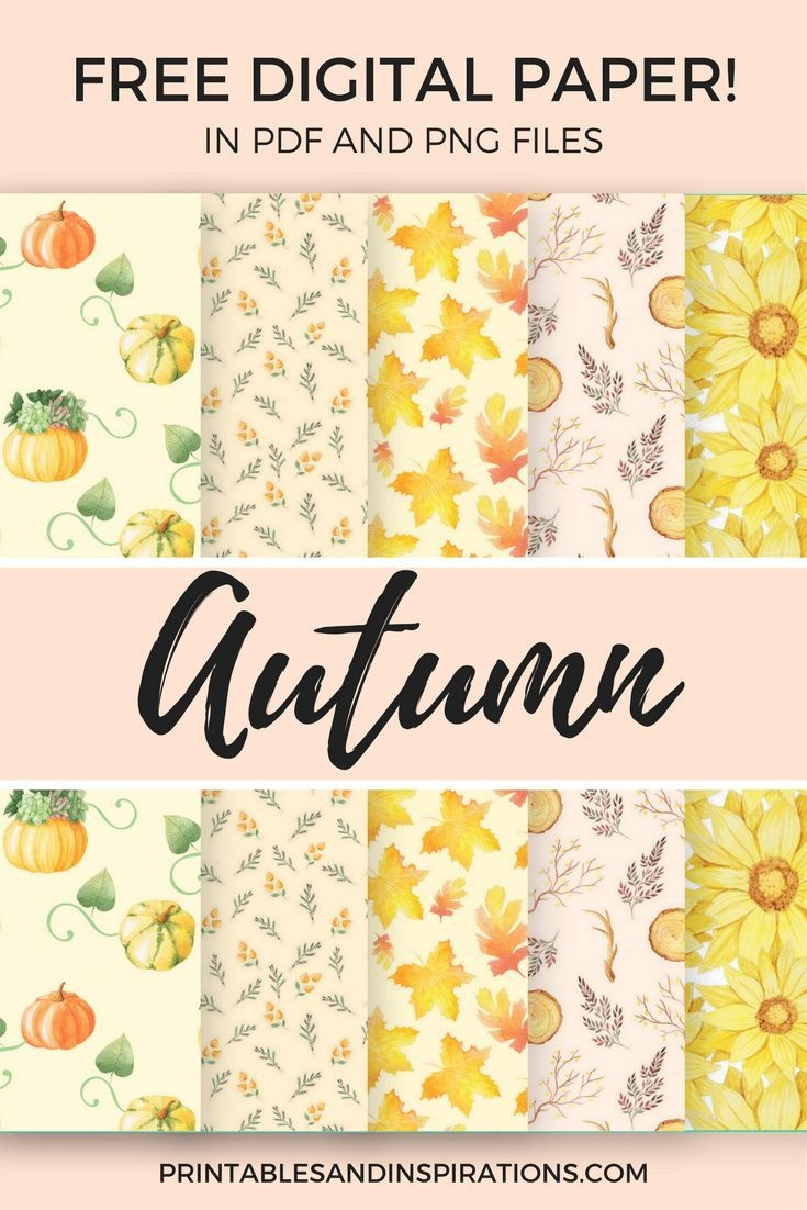 Free Digital Paper For Scrapbooking And More Projects!   Digital - Free Printable Fall Scrapbook Paper