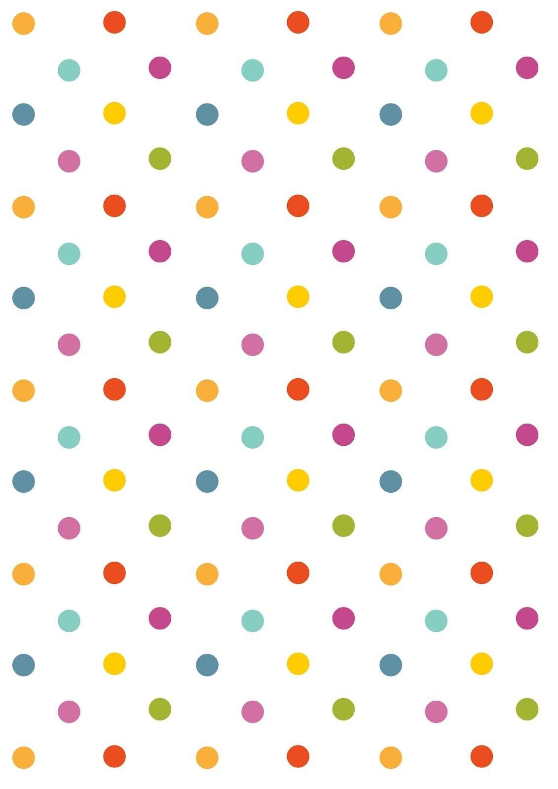Free Digital Polka Dot Scrapbooking Paper - Ausdruckbares - Free Printable Backgrounds