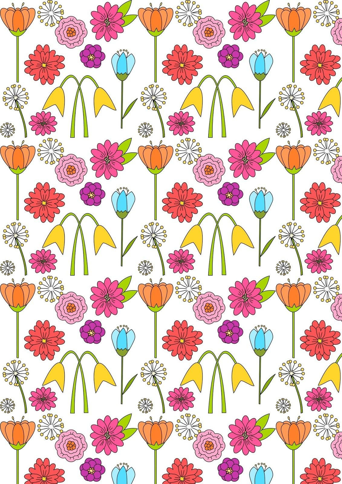 Free Digital Spring Scrapbooking Paper - Ausdruckbares - Free Printable Fall Scrapbook Paper