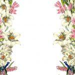 Free Digital Vintage Flower Scrapbooking Paper   Ausdruckbares   Free Printable Flowers