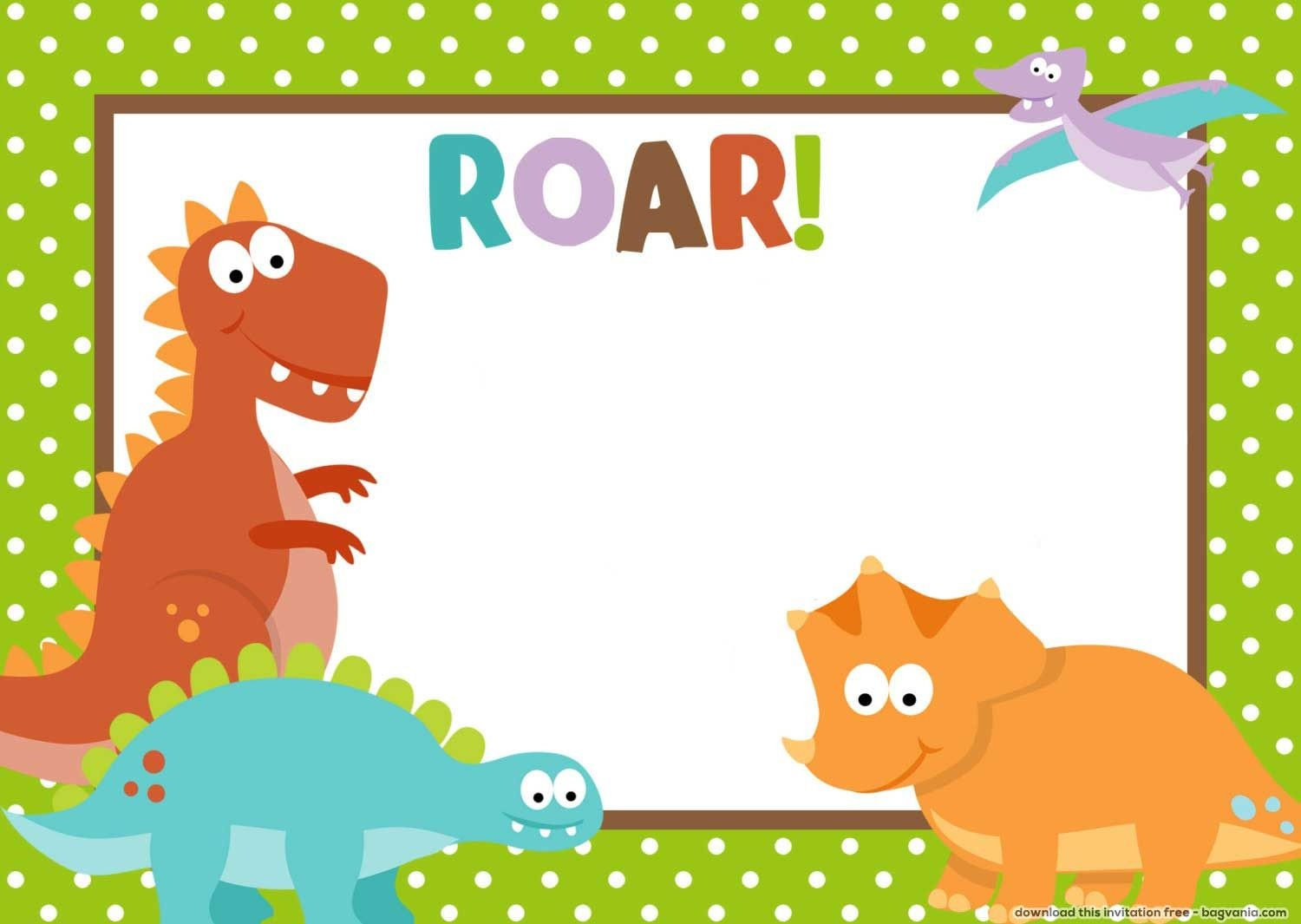 Free Dinosaur Birthday Invitations – Bagvania Free Printable - Free Printable Dinosaur Birthday Invitations