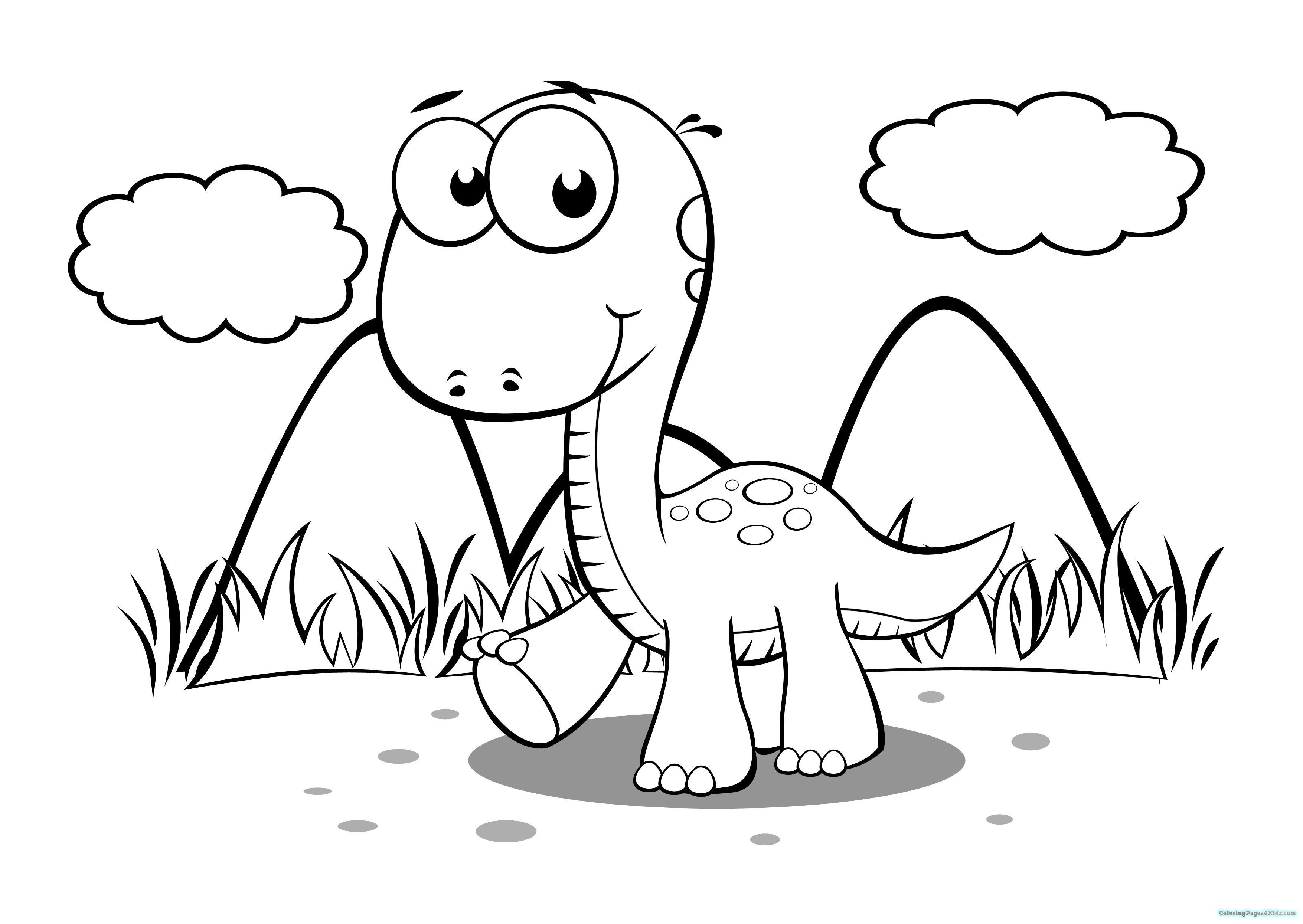 Free Dinosaur Train Coloring Pages Easy Printable Realistic Cute - Free Printable Dinosaur Coloring Pages