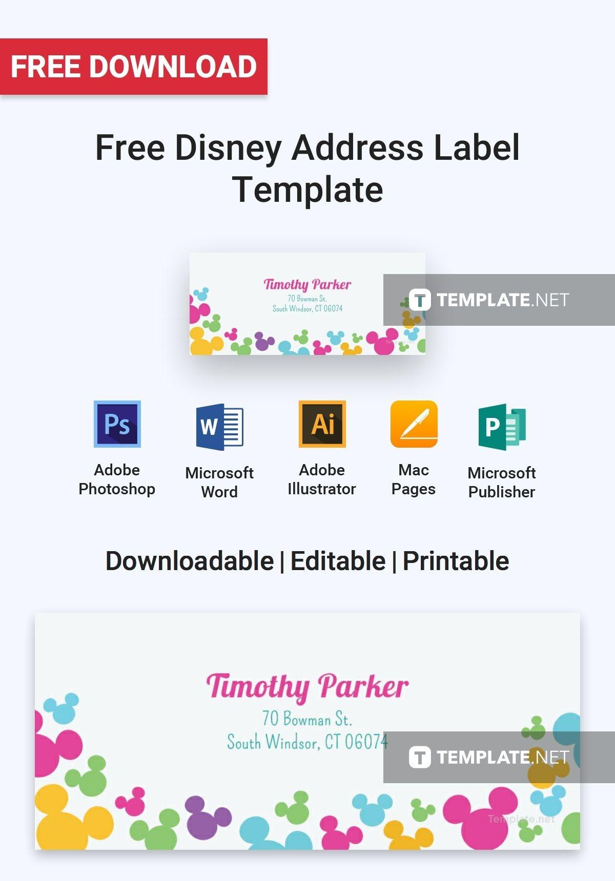 Free Disney Address Label | Label Templates & Designs 2019 | Label - Free Printable Disney Address Labels
