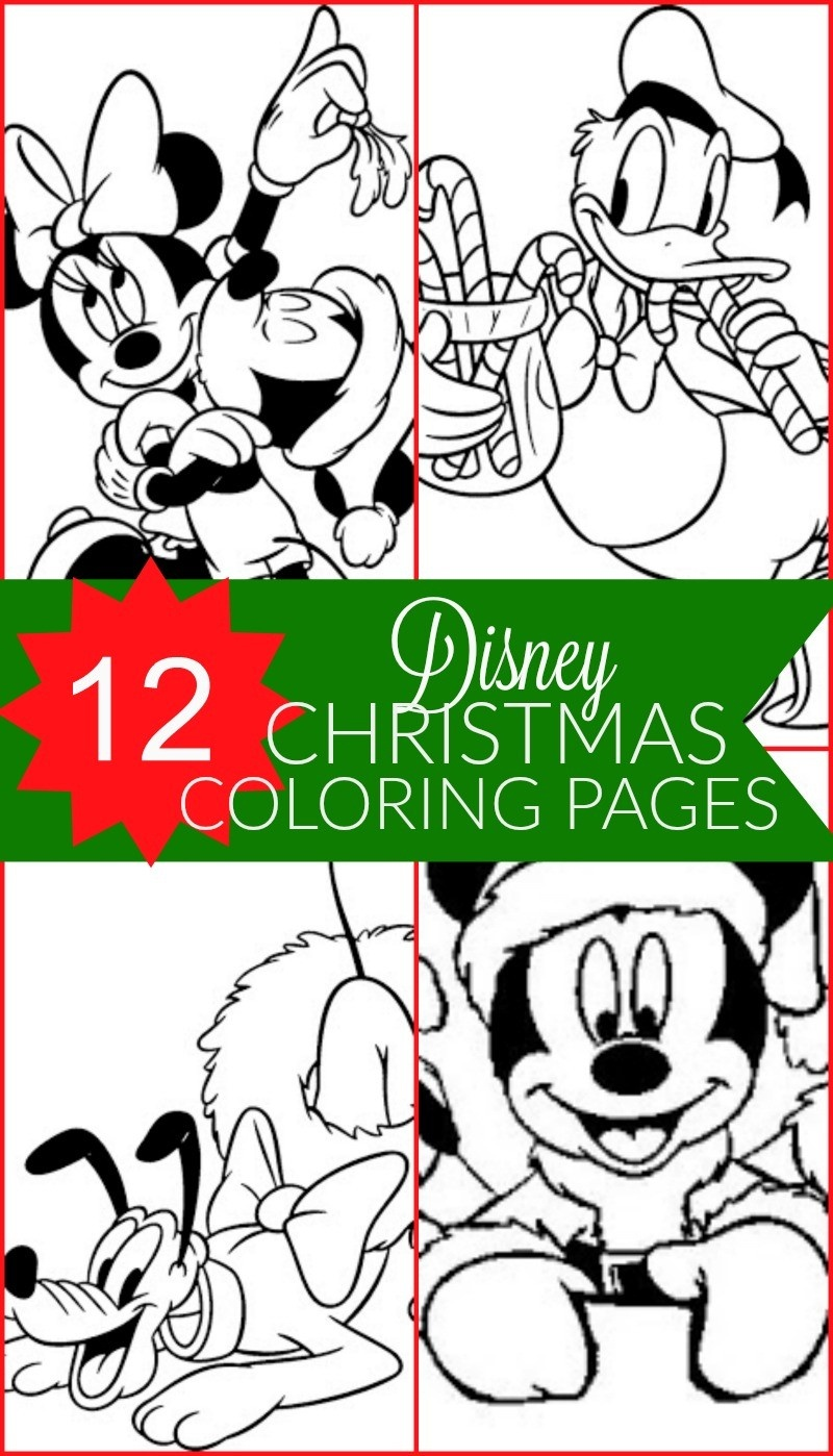 Free Disney Christmas Printable Coloring Pages For Kids - Honey + Lime - Free Disney Printables
