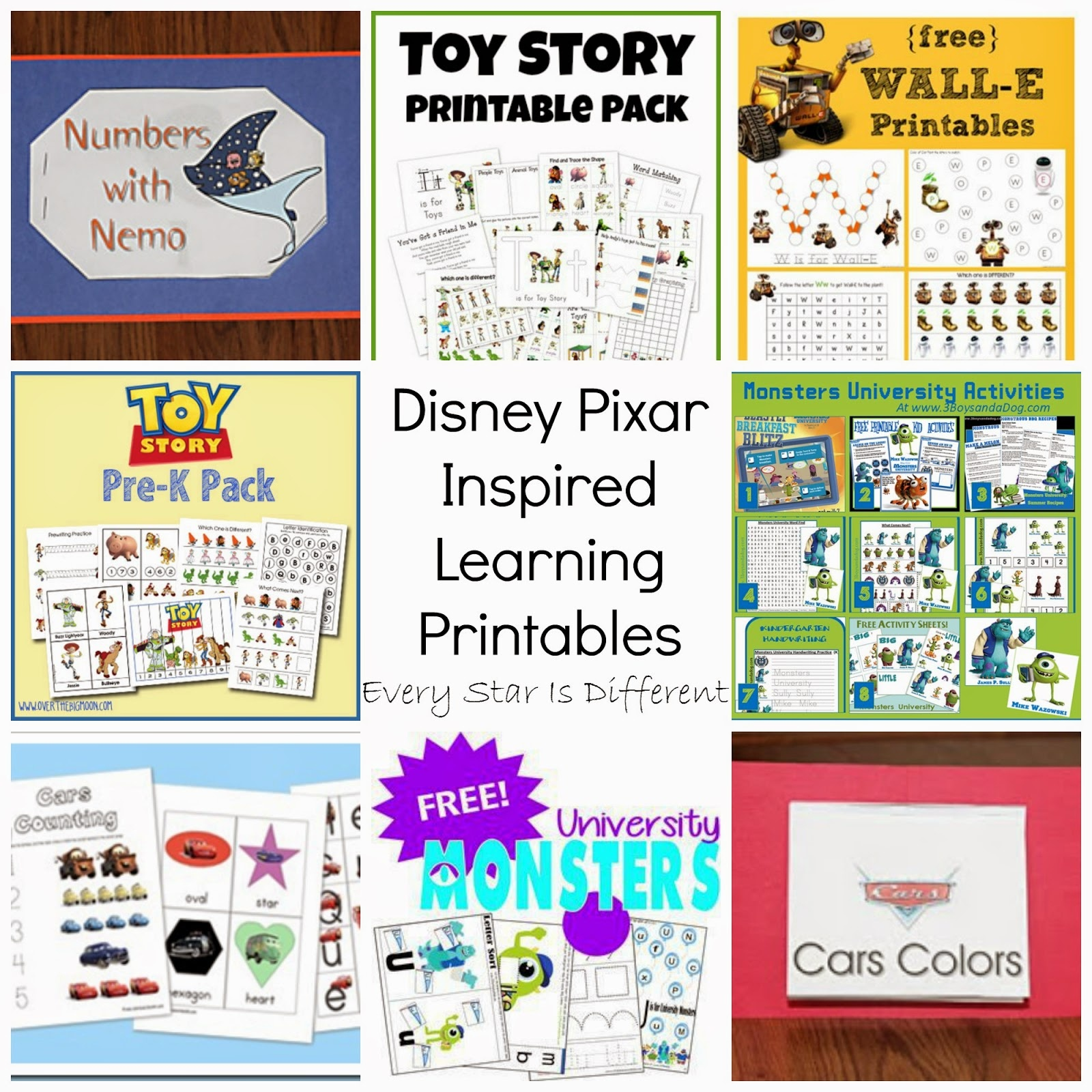 Free Disney Inspired Learning Printable Packs & Activities - Every - Free Disney Activity Printables