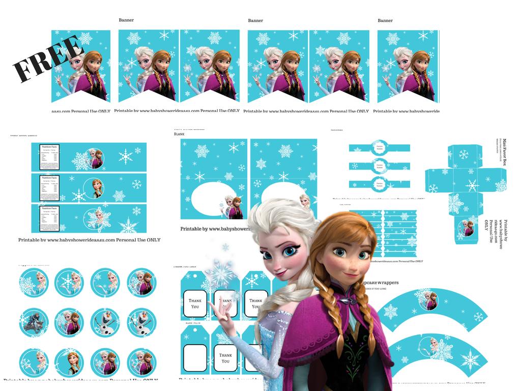 Free Disney's Frozen Printable - Baby Shower Ideas - Themes - Games - Free Frozen Printables