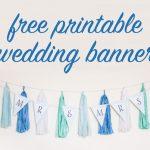 Free Diy Printable Wedding Banner   Free Bridal Shower Printable Decorations