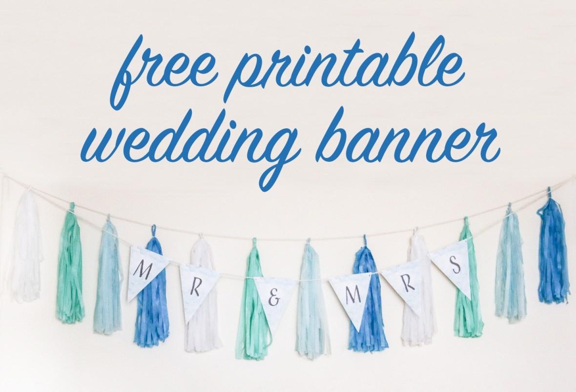 Free Diy Printable Wedding Banner - Free Bridal Shower Printable Decorations