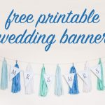 Free Diy Printable Wedding Banner   Free Printable Wedding Banner Letters
