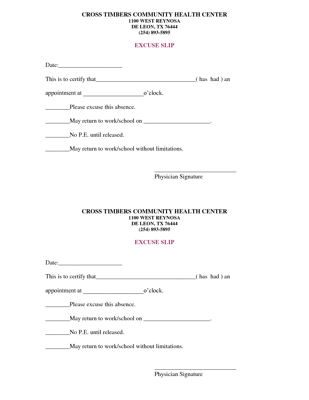 Free Doctors Note Template | Scope Of Work Template | On The Run - Free Printable Doctor Excuse Slips