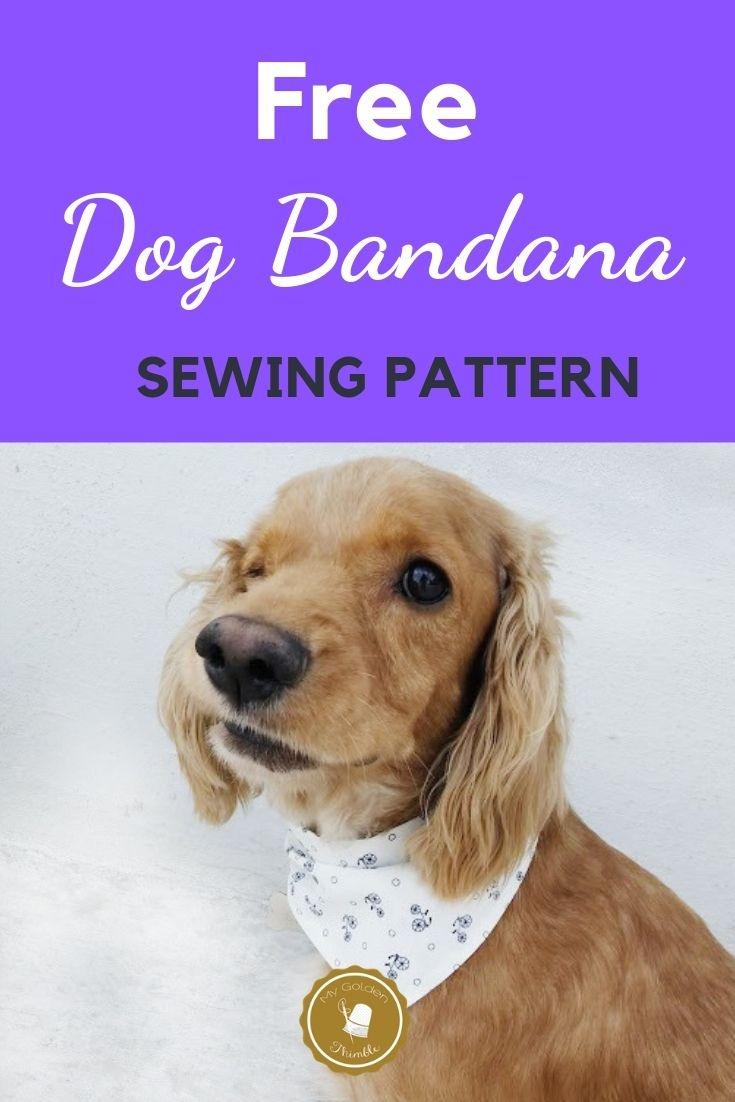 Free Dog Bandana Pattern Diy: For All Sizes!   Dog Pattern   Dog - Free Printable Sewing Patterns For Dog Clothes