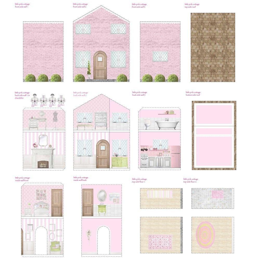 Free Dollhouse Printables   Printable Dollhouse's   Doll House - Free Dollhouse Printables