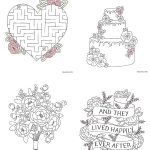 Free Download Printable Wedding Colouring Sheets For Kids | Going To   Free Printable Personalized Wedding Coloring Book