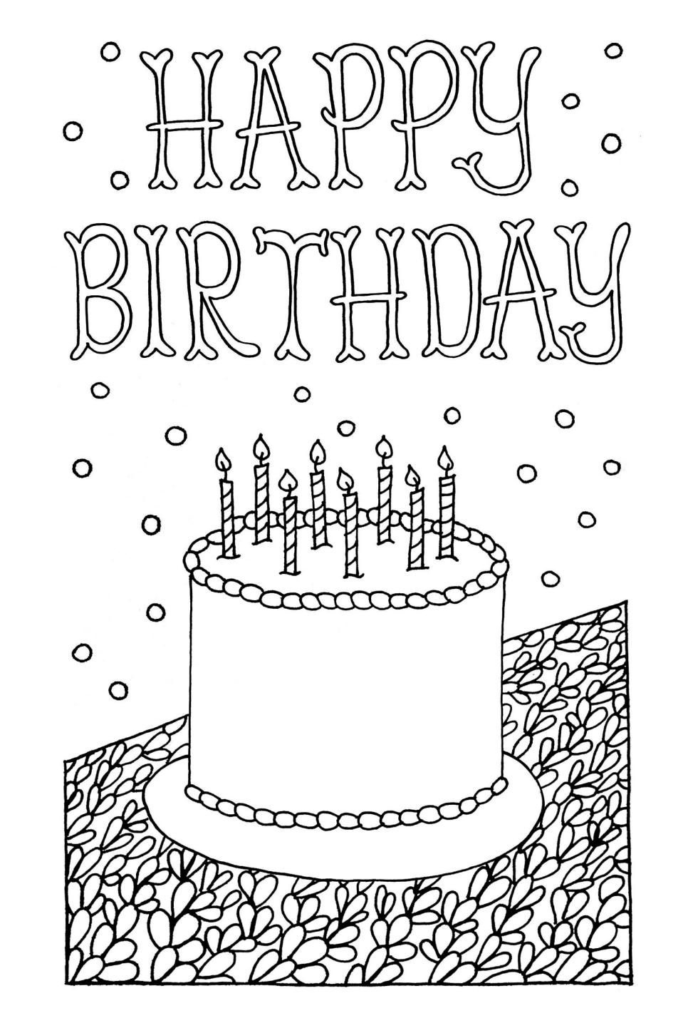 Free Downloadable Adult Coloring Greeting Cards | Diy Gifts | Happy - Free Printable Birthday Cards To Color