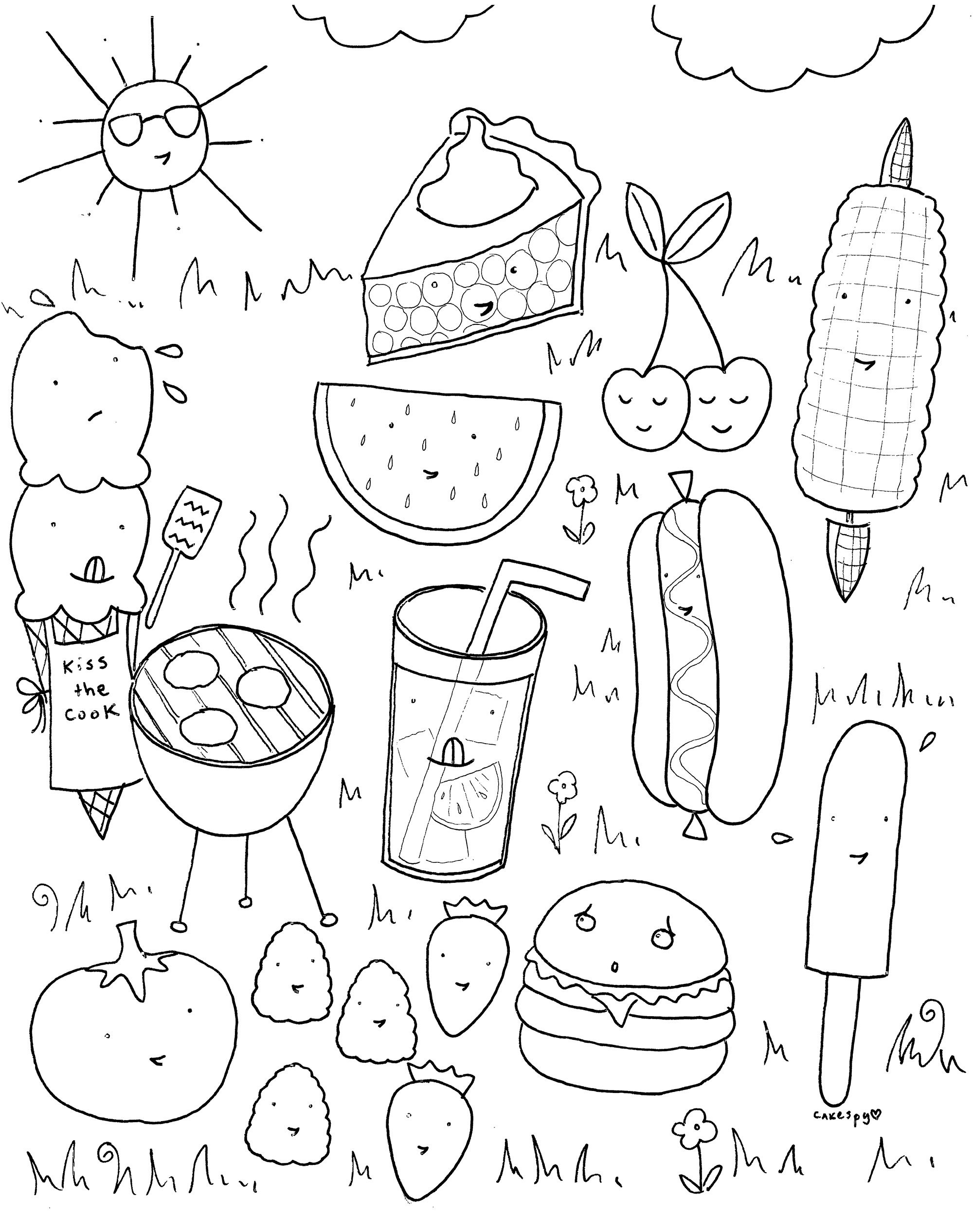 Free Downloadable Summer Fun Coloring Book Pages | Ideen Für Kinder - Free Printable Summer Coloring Pages For Adults