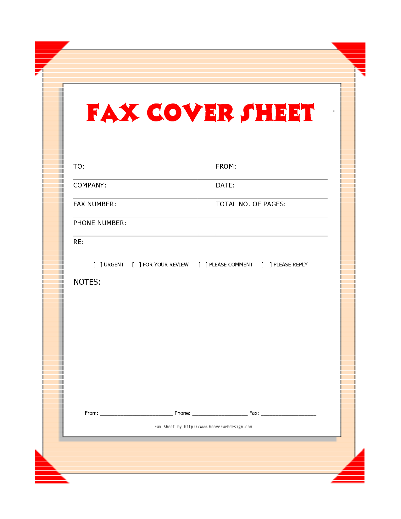 Free Downloads Fax Covers Sheets | Free Printable Fax Cover Sheet - Free Printable Fax Cover Sheet Pdf