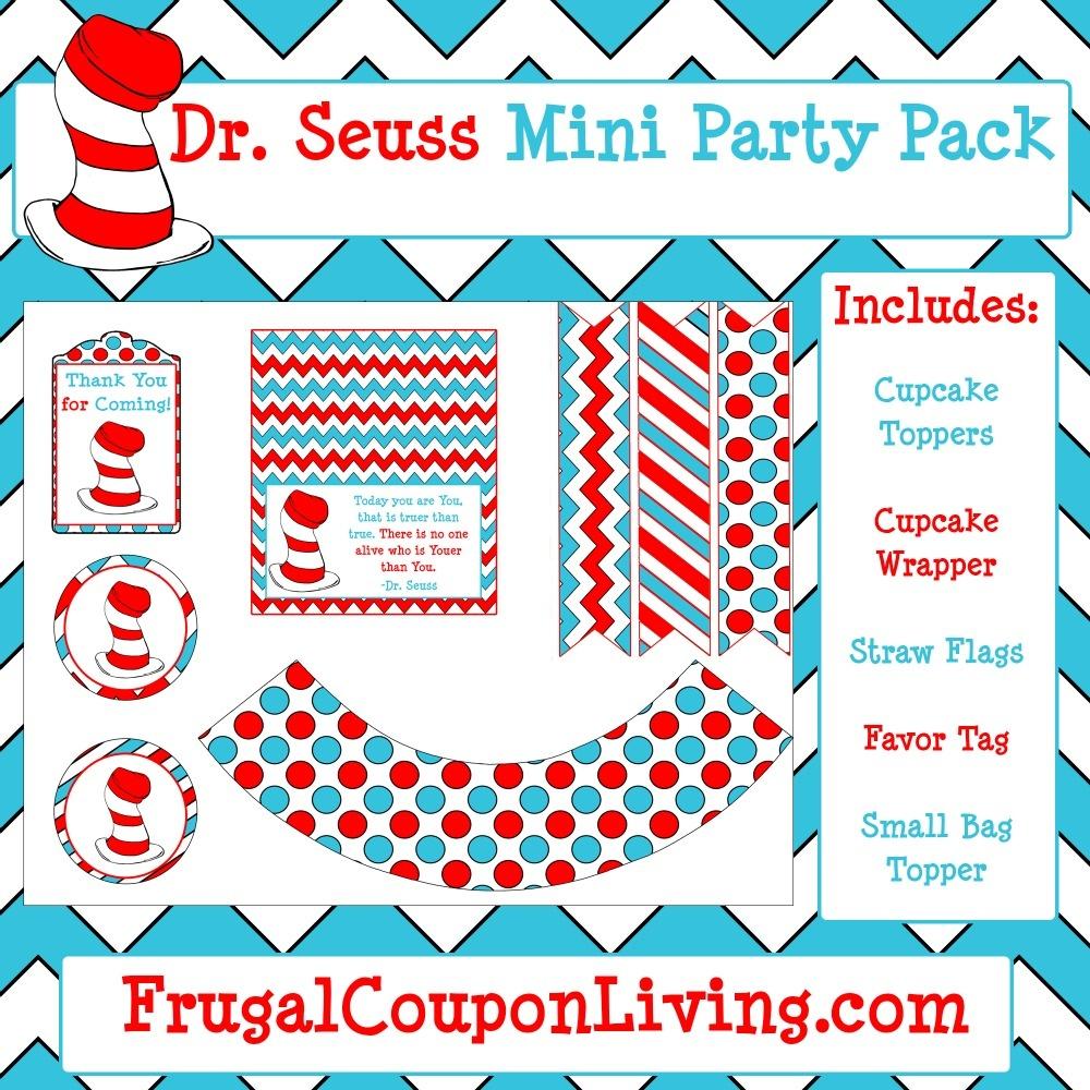 Free Dr. Seuss Party Pack Printable - Dr Seuss Free Printables