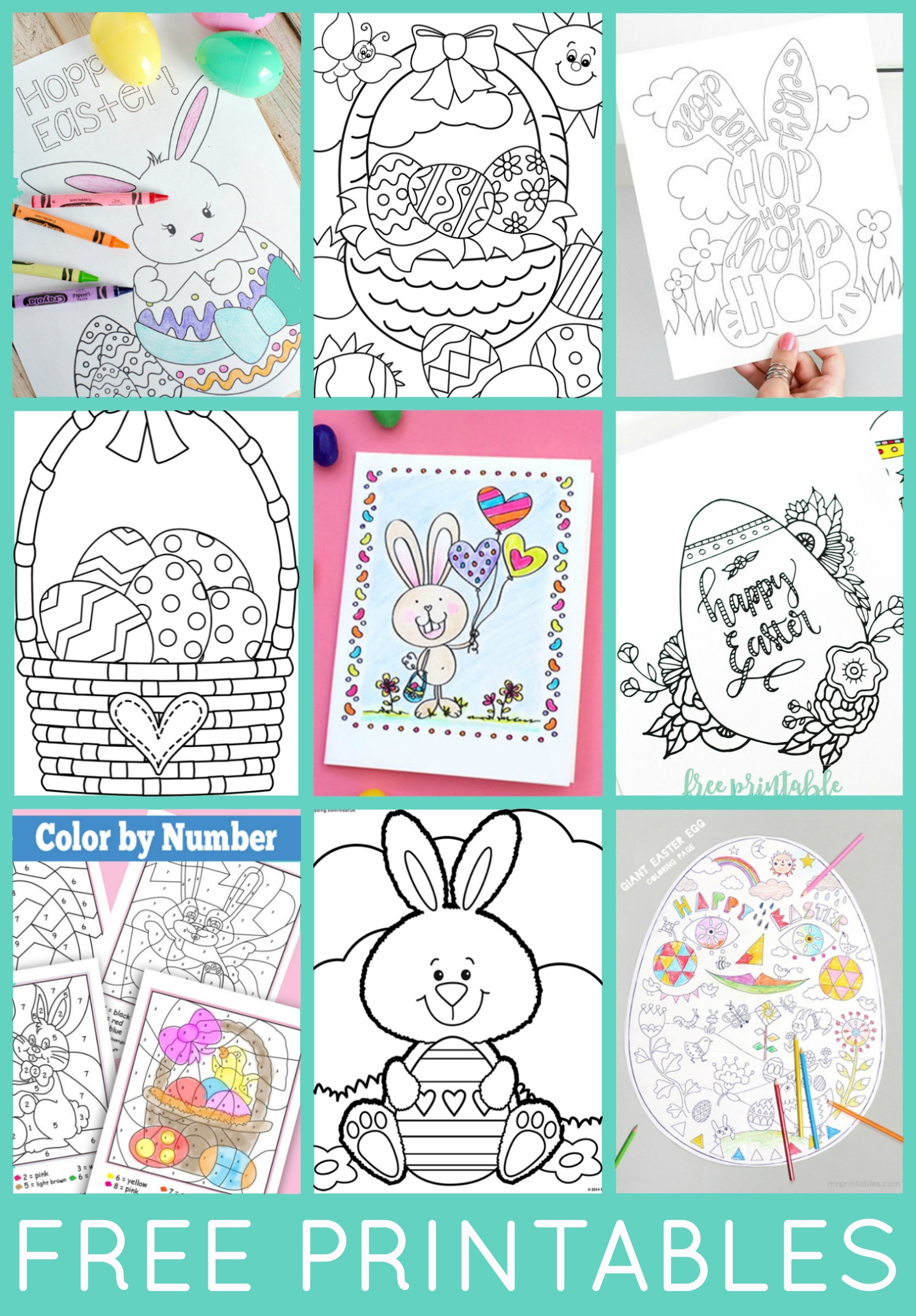 Free Easter Coloring Pages - Happiness Is Homemade - Free Printables For Kids