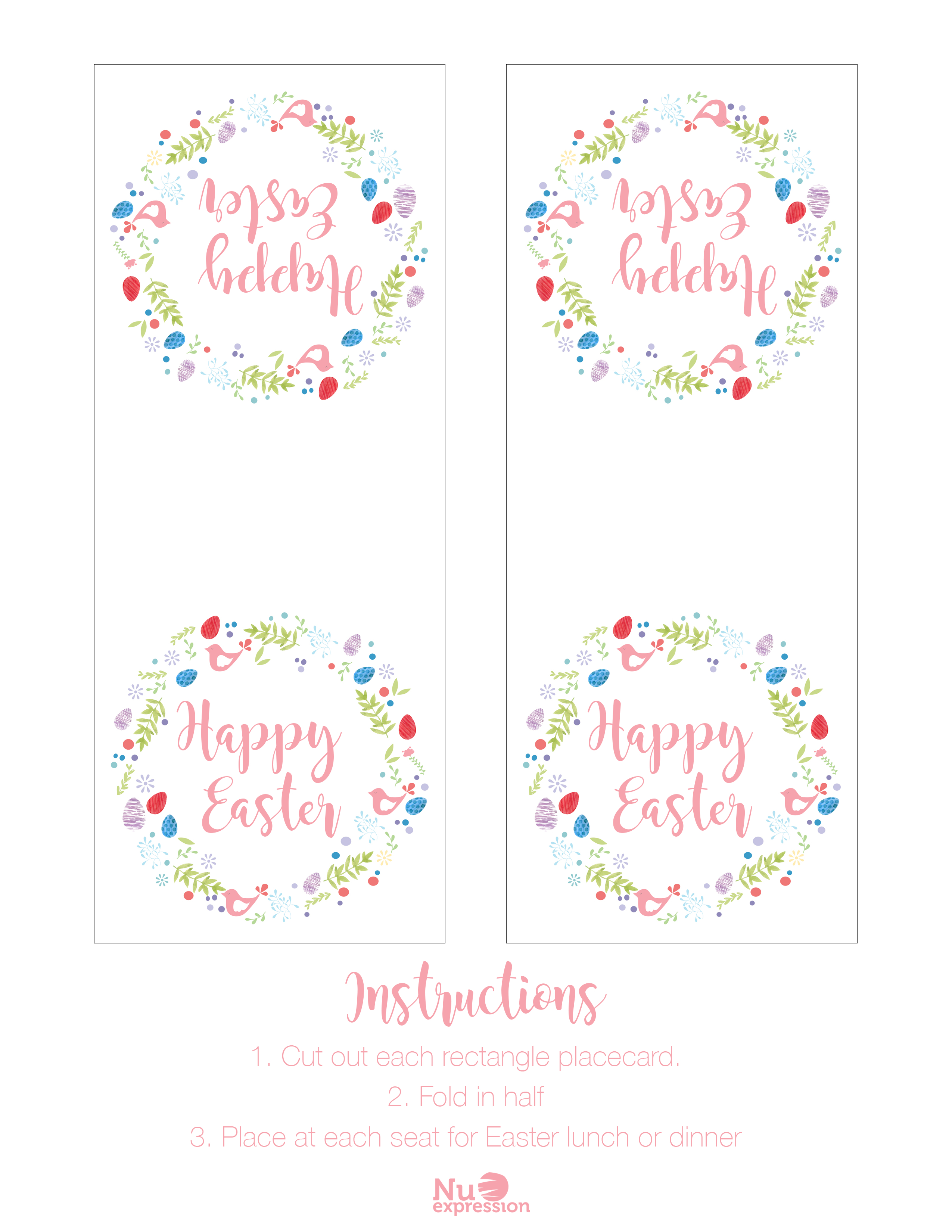 Free Easter Printables - Card, Gift Tags, + More - Free Easter Place Cards Printable