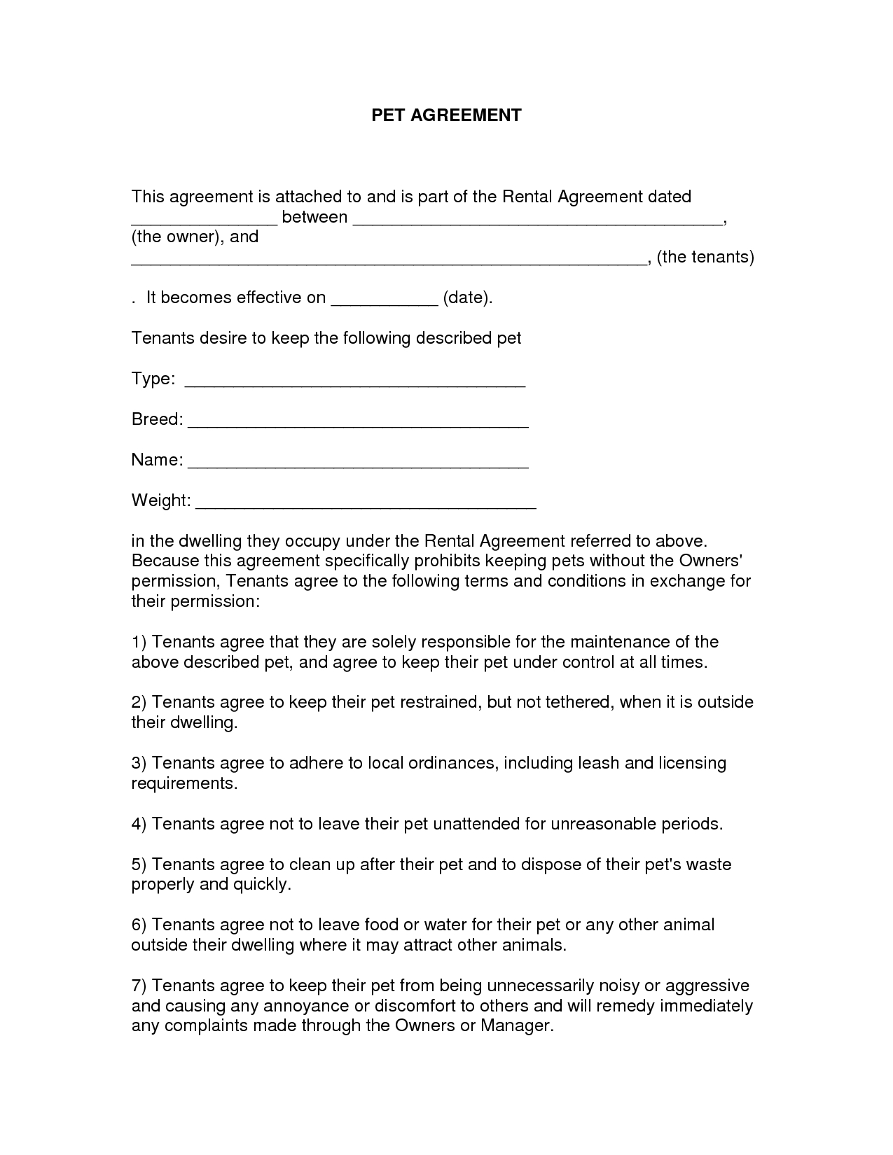 Free Easy Lease Agreement To Print | Free Printable Lease Agreement - Free Printable Michigan Residential Lease Agreement