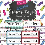 Free Editable!! Chevron, Dots Or Rainbow.simple Name Tags Type In   Free Printable Name Tags For School Desks