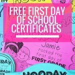 Free Editable First Day Of School Certificates | Back To School   Free Printable First Day Of School Certificate