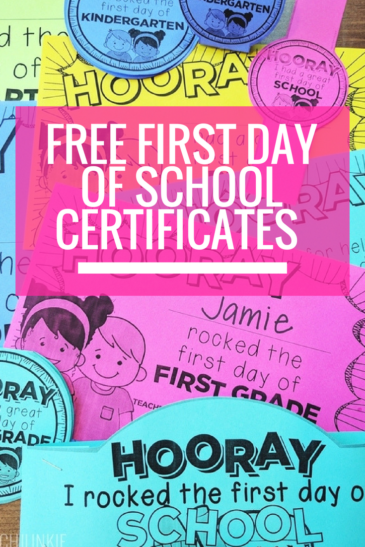 Free Editable First Day Of School Certificates | Back To School - Free Printable First Day Of School Certificate