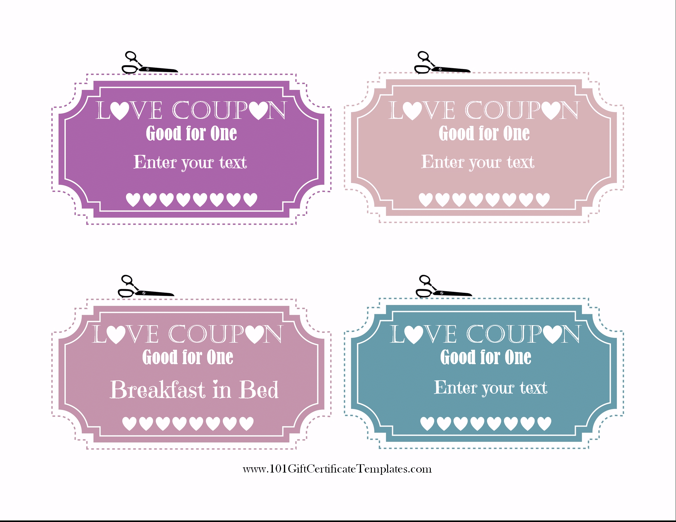 Free Editable Love Coupons For Him Or Her - Love Coupons For Him Printable Free