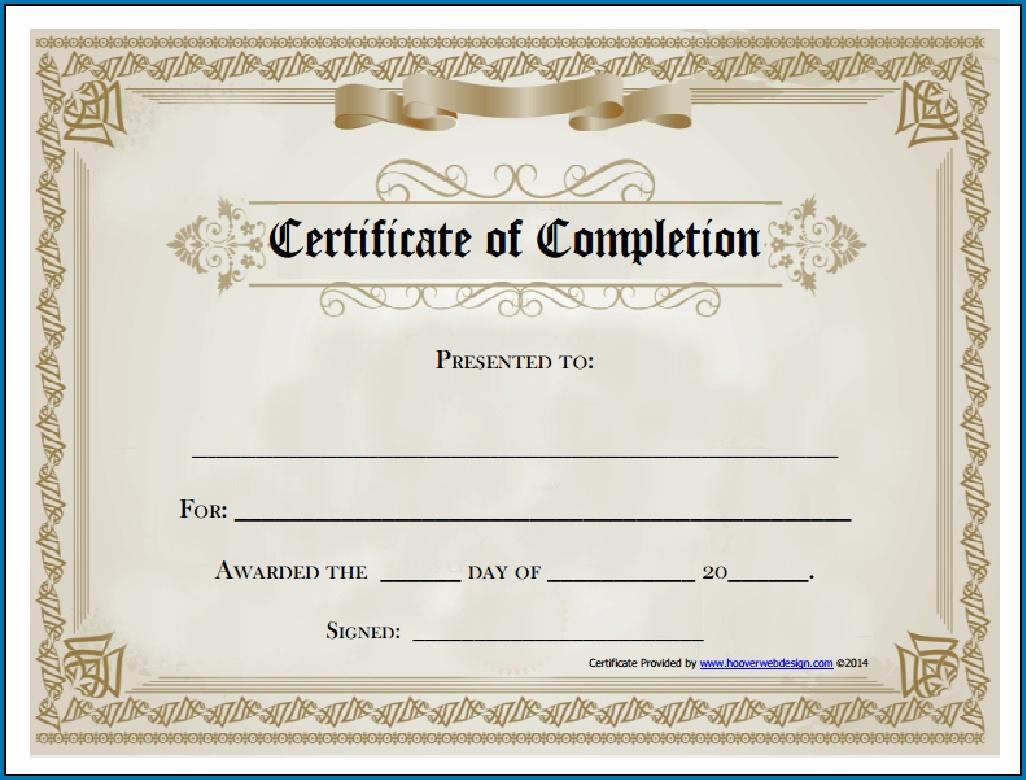 Free Editable Printable Certificate Of Completion #253 - Free Printable Certificate Of Completion