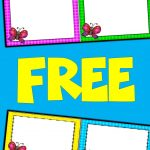 Free Editable Spring Card Templates | Butterflies | Butterfly   Free Printable Blank Task Cards