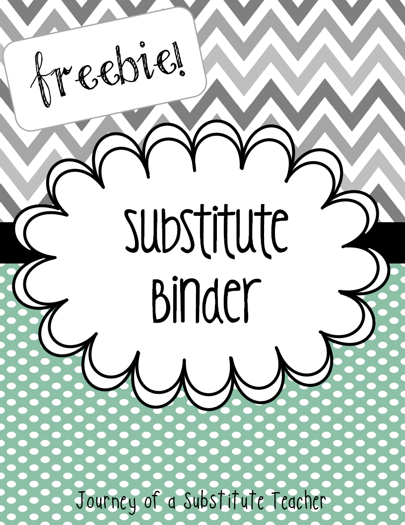 Free Editable Substitute Binder #bts13 #teacher #bts   Top Teacher - Free Printable Teacher Binder Covers