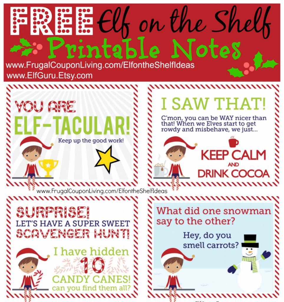 Free Elf On The Shelf Notes   Holiday Inspirations!   Elf On The - Free Elf On The Shelf Printables