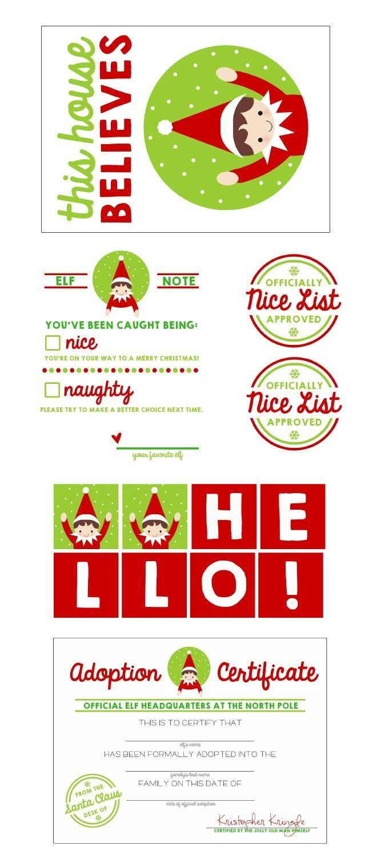 Free Elf On The Shelf Printable Kit!   Ultimate Diy Board!   Elf On - Free Elf Printables