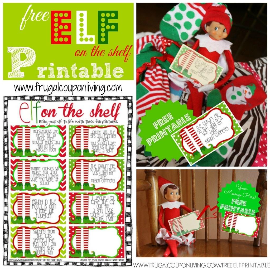 Free Elf On The Shelf Printable Notes - Free Elf Printables