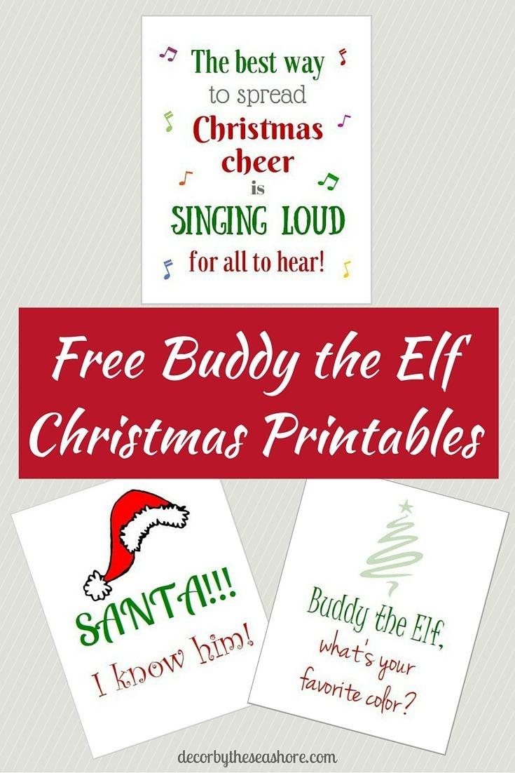 Free Elf Printables   Christmas Decor   Elf Decorations, Elf, Elf Movie - Free Elf Printables