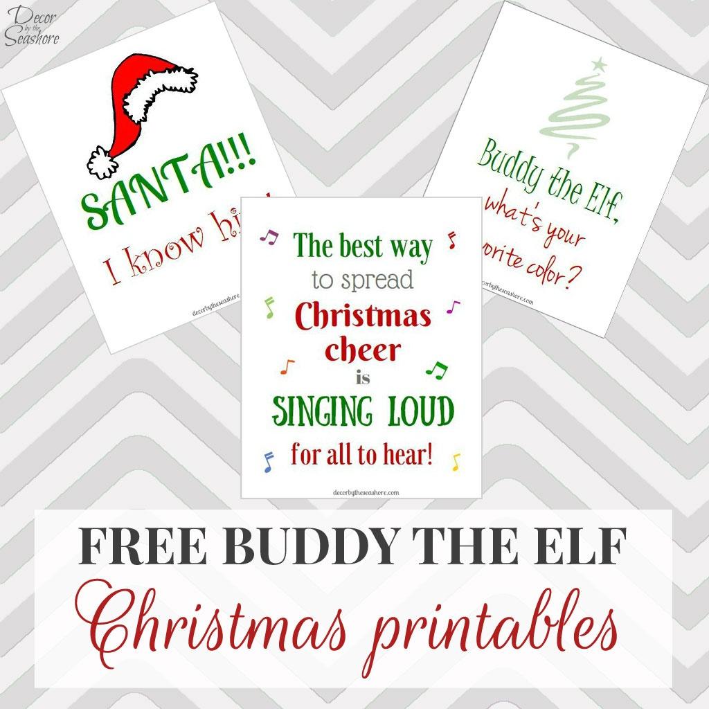 Free Elf Printables - Decorthe Seashore - Free Elf Printables