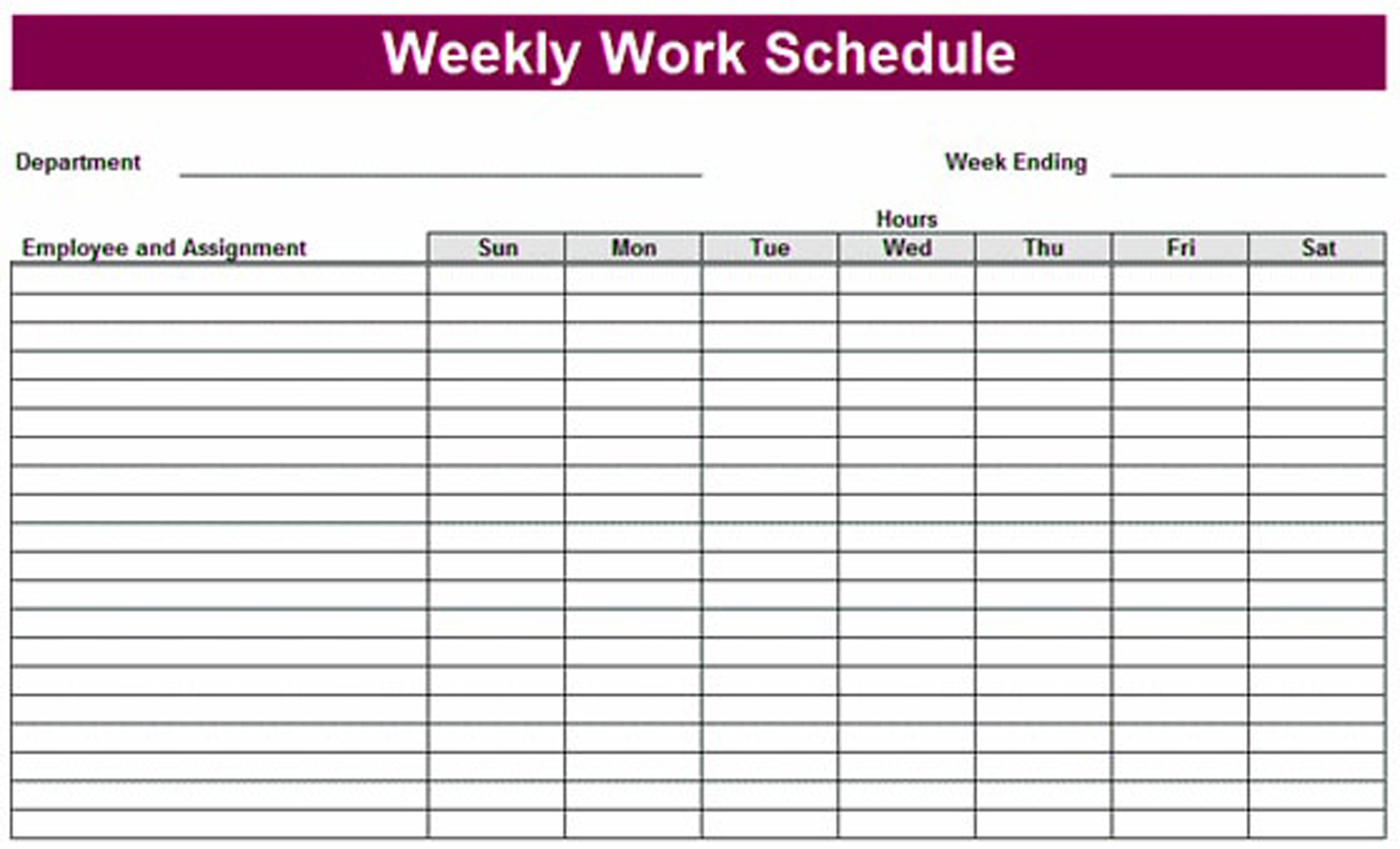 Free Employee Work Schedule Late Printable Weekly Download Them Or - Free Printable Monthly Work Schedule Template