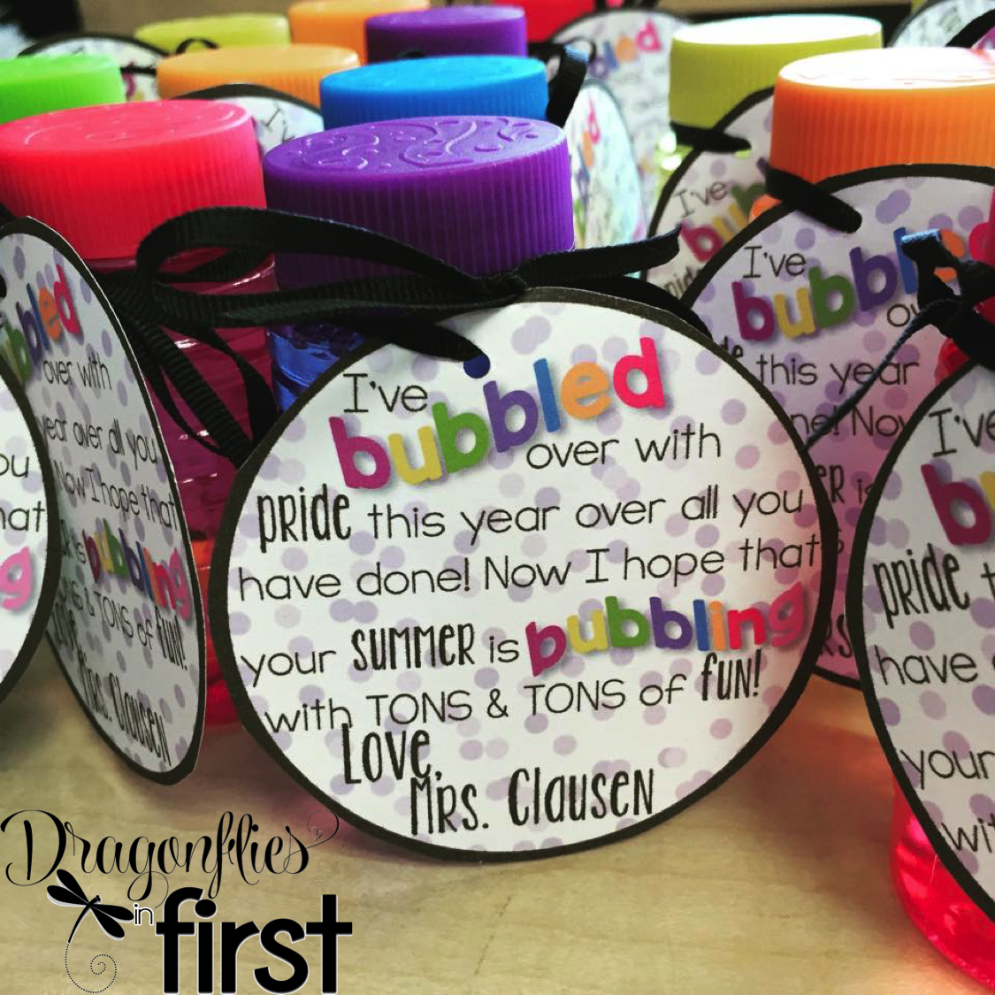 Free End Of The Year Bubbles Tag | Stuff For My Future Classes - Free Printable Gift Tags For Bubbles