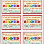 Free End Of Year Gift Tag Printables From Teacher To Student   Free Printable Months Of The Year Labels
