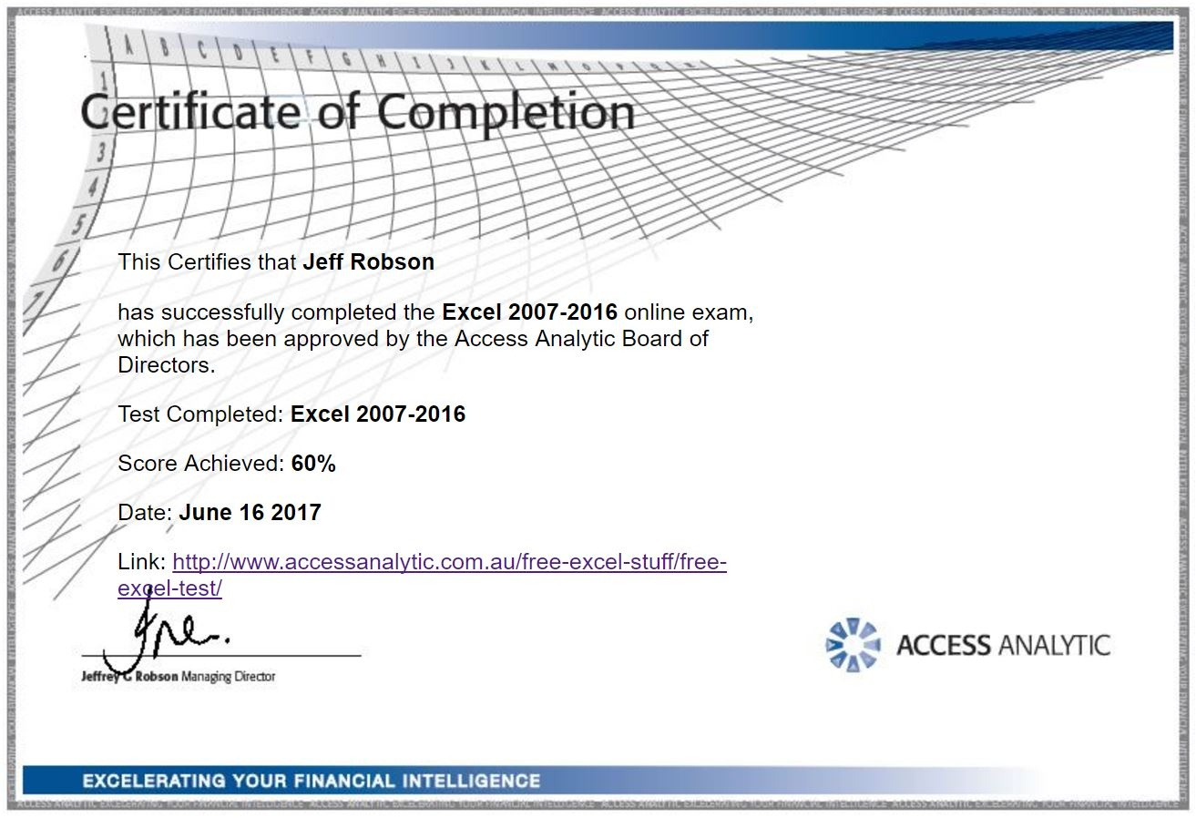 Free Excel Test - Access Analytic - Free Printable Pre Employment Tests